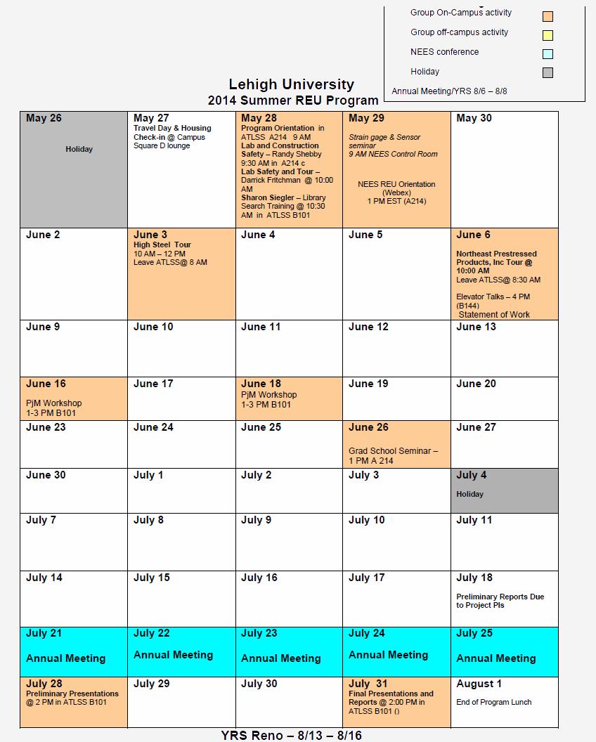 REU2014Schedule